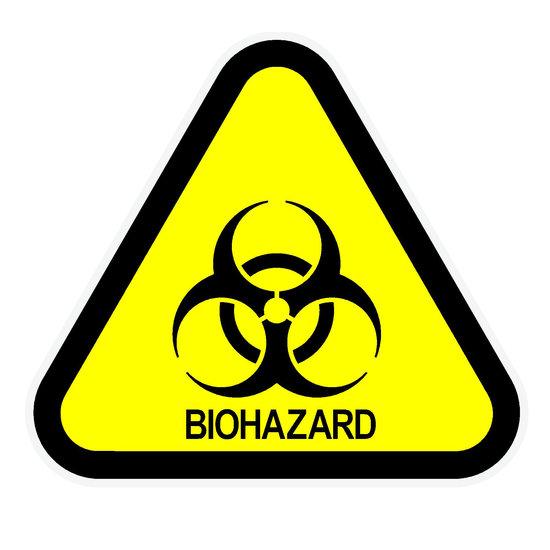 Biohazard Class II / III Label